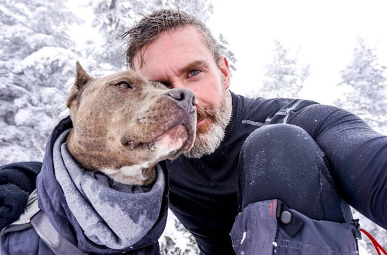 Homem decide adotar um cachorro, mas não era  um um qualquer. Ele esteve no corredor da Eutanásia por duasvezes.