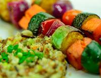 Espetinhos de Legumes na Frigideira(vegana)