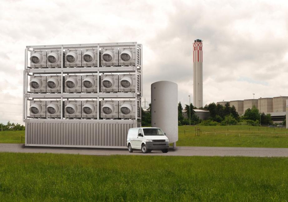 Empresa suíça irá aspirar o CO2 do ar e usá-lo para produzirhortaliças