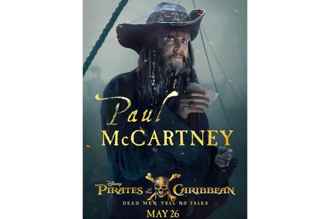 Paul McCartney surge irreconhecível em Piratas doCaribe