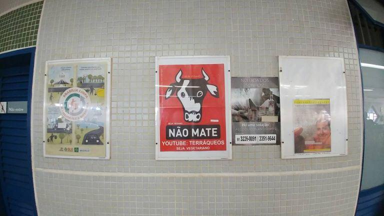 Metrô-DF divulga cartazes do Movimento Não Mate em todas as suasestações