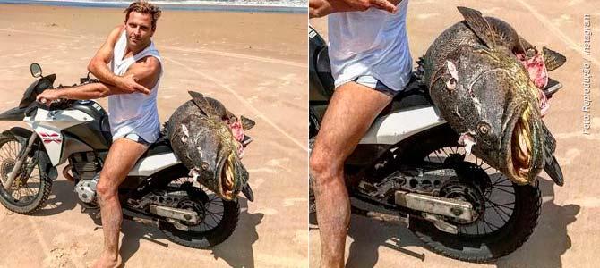 Henri Castelli leva multa ao posar com peixe ameaçado deextinção