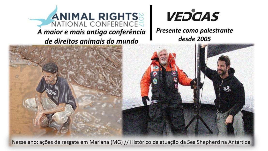 A ONG VEDDAS mais uma vez representando o Brasil na Animal Rights NationalConference